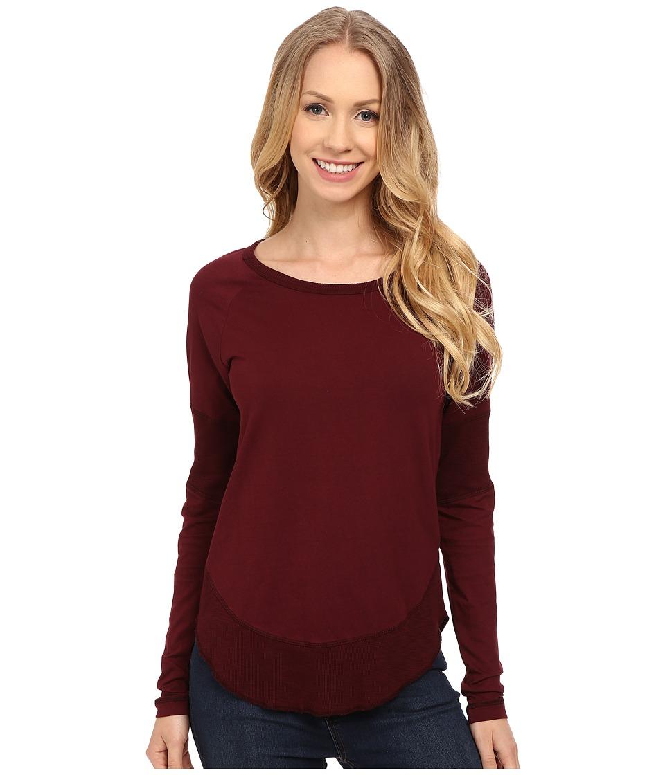 Mod-o-doc - Supreme Jersey Raglan Tee w/ Contrast Rib Inset (Burgundy Noir) Women's T Shirt