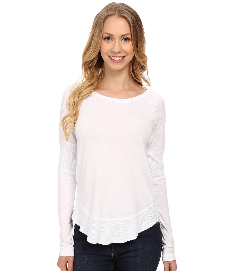 Mod-o-doc - Supreme Jersey Raglan Tee w/ Contrast Rib Inset (White) Women's T Shirt