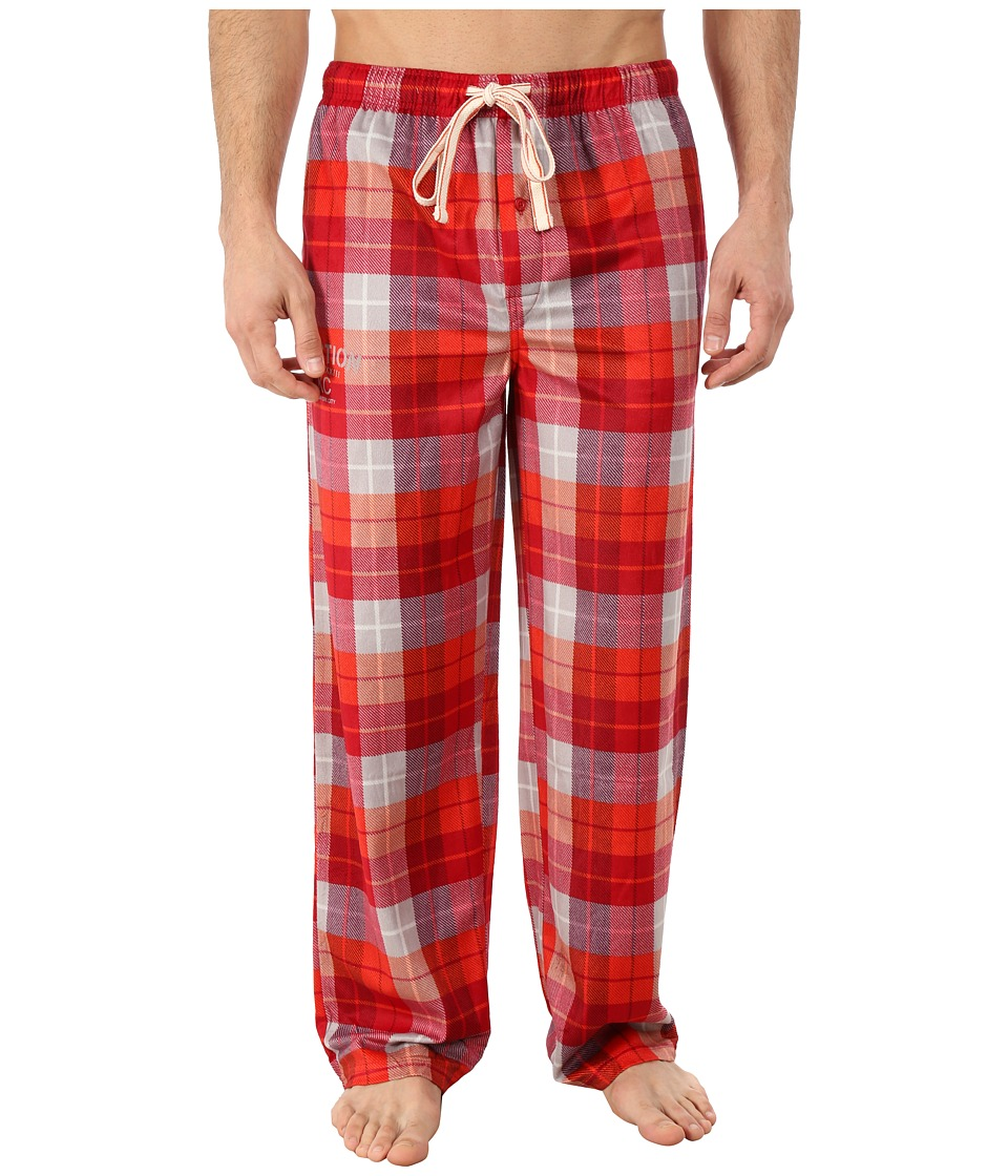 Kenneth Cole Reaction - Deer Skin Fleece Sleep Pants (Manhattan Red Plaid) Men
