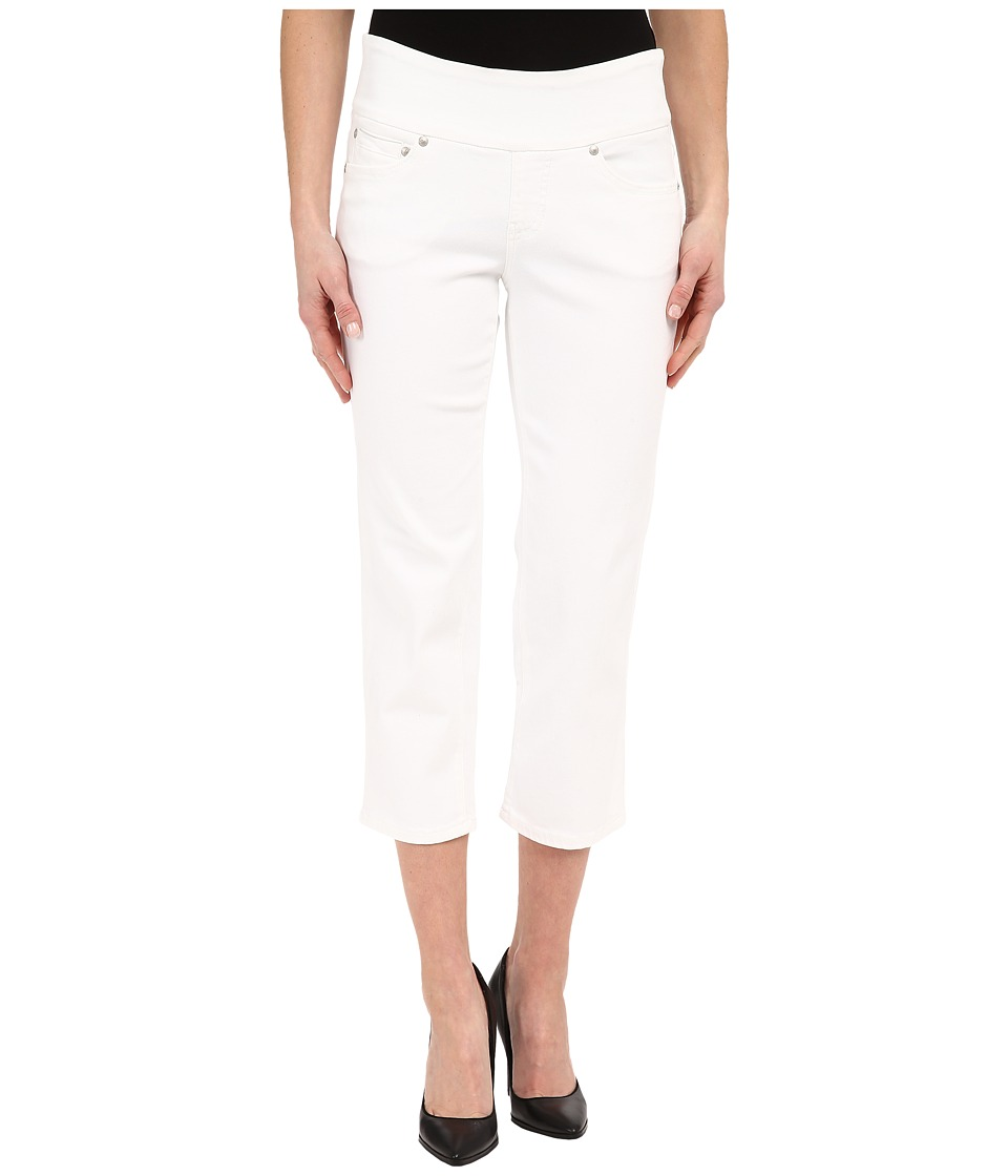 Jag Jeans - Echo Pull-On Classic Fit Crop in Dolce Twill (White) Women's Jeans