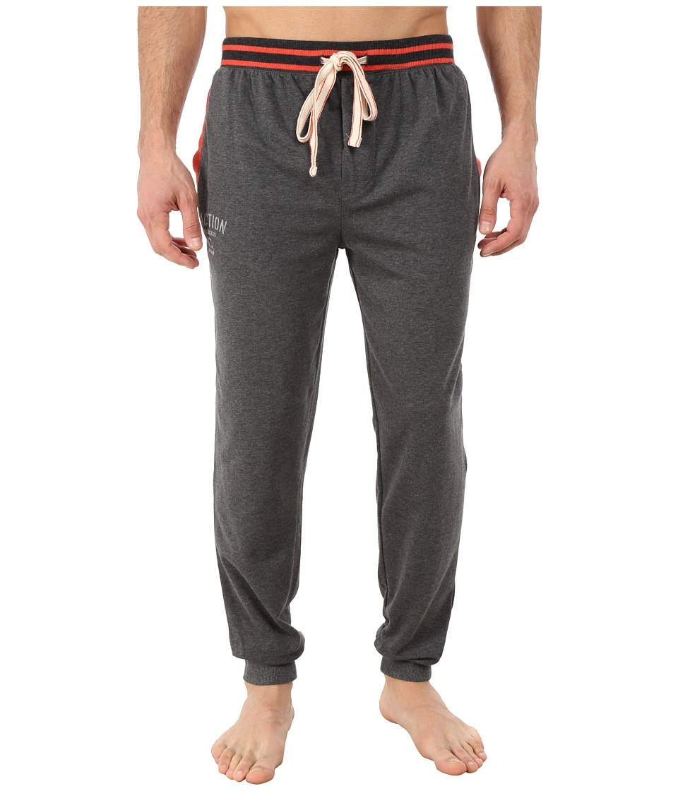 Kenneth Cole Reaction - Fleece Back Jersey Cuffed Pants (Dark Heather Grey) Men's Pajama