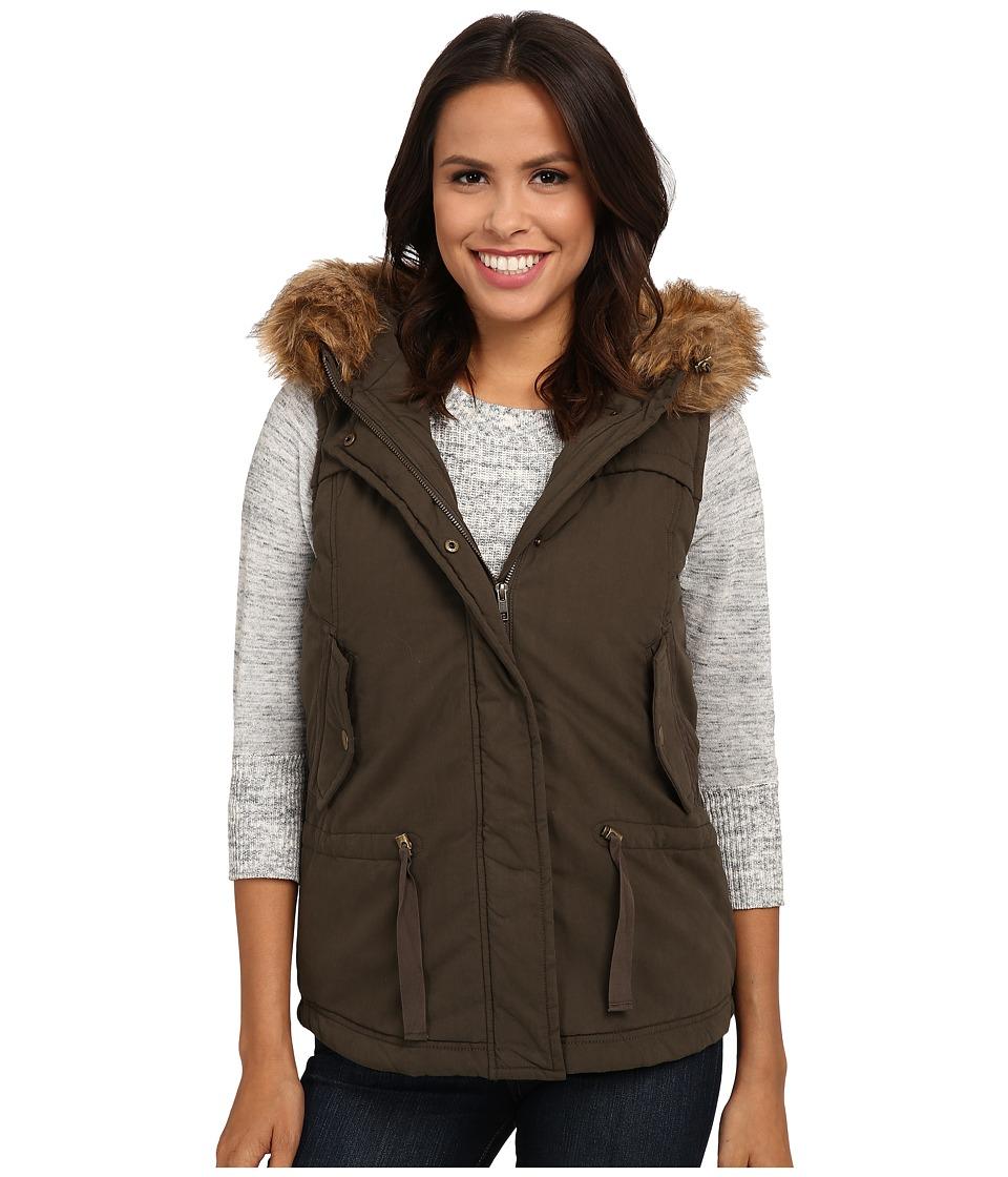 Mavi Jeans - Hooded Vest (Olive) Women's Vest