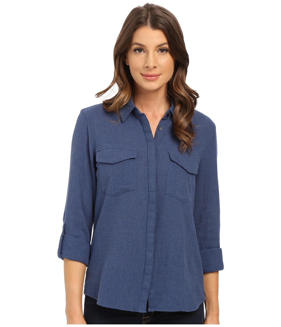 Mavi Jeans - Button Down Shirt (Insignia Blue Melange) Women's Long Sleeve Button Up