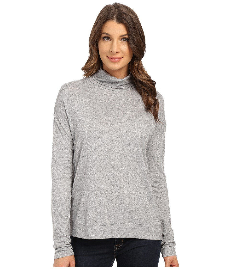 Mavi Jeans - Turtleneck Top (Grey Melange) Women's T Shirt
