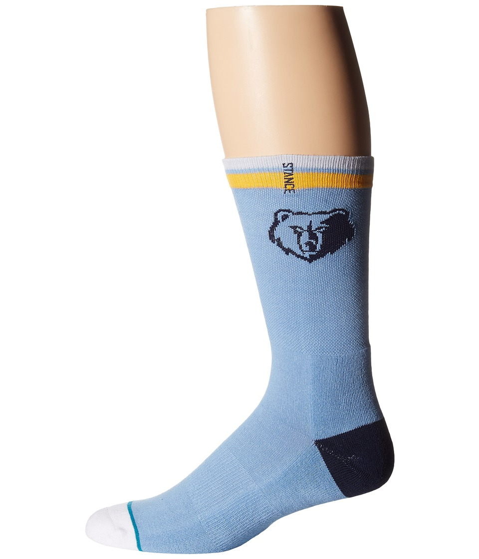 Stance - Grizzlies Arena Logo (Light Blue) Crew Cut Socks Shoes