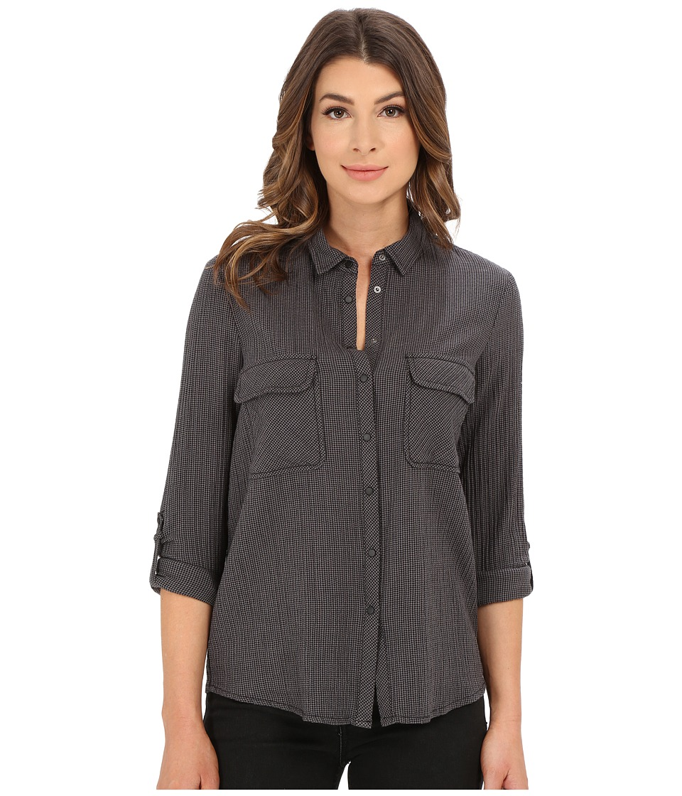 Mavi Jeans - Button Down Shirt with Check Pockets (Griffin Check) Women's Long Sleeve Button Up