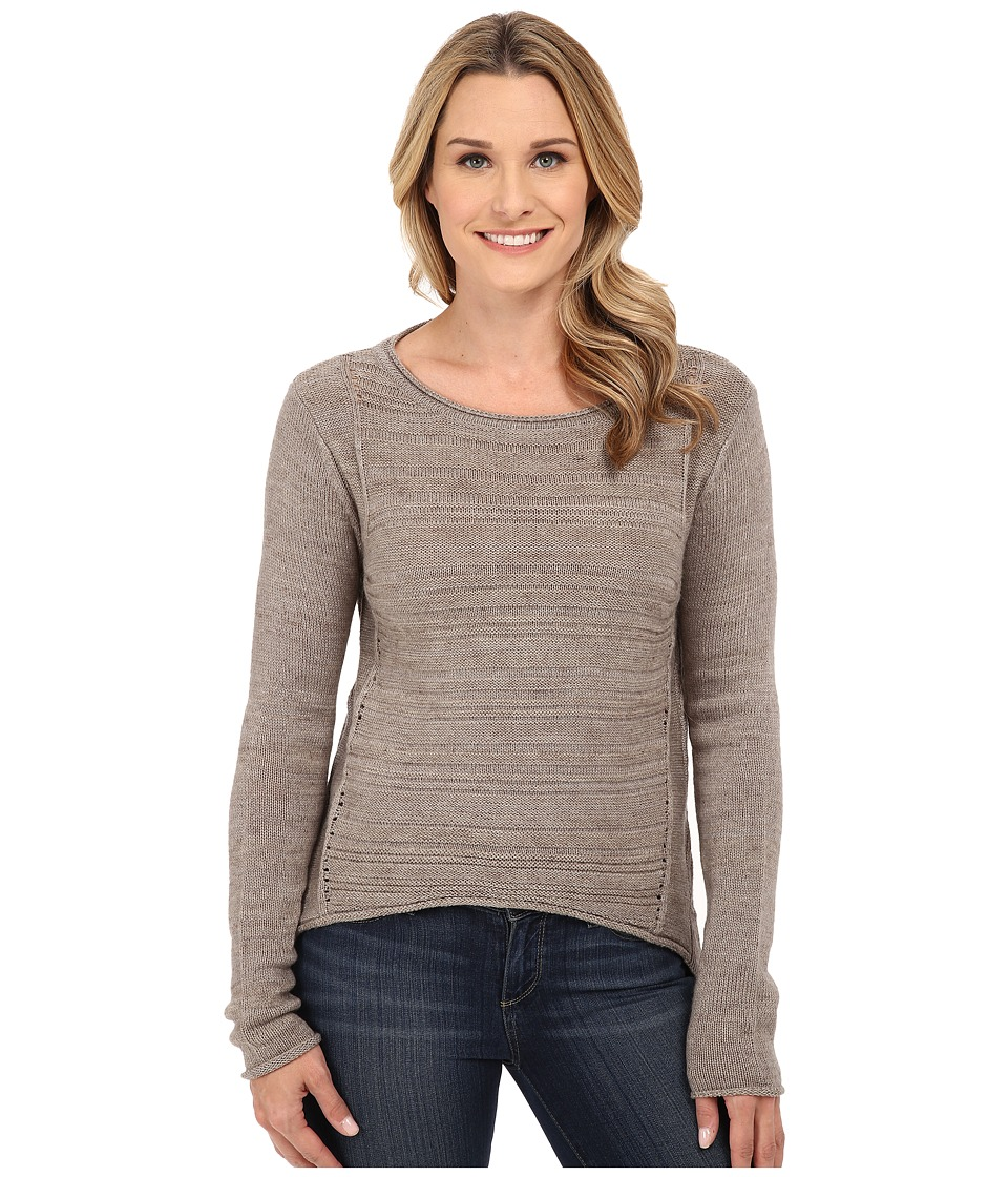 Jag Jeans - Boat Neck Drop Tail Sweater (Taupe Heather) Women's Sweater