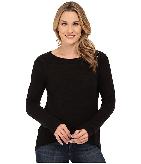 Jag Jeans - Boat Neck Drop Tail Sweater (Black) Women's Sweater