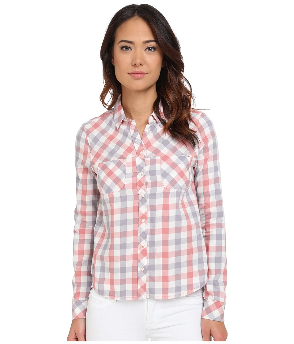 Mavi Jeans - Plaid Button Down Shirt (Desert Sand Check) Women's Long Sleeve Button Up