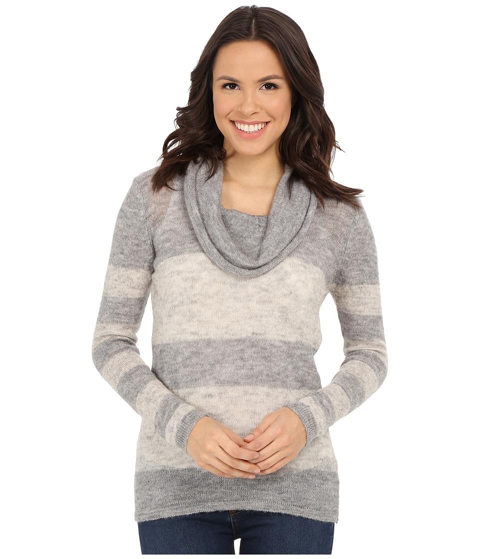 Mavi Jeans Cowel Neck Color Blocking Sweater (Grey Melange) Women