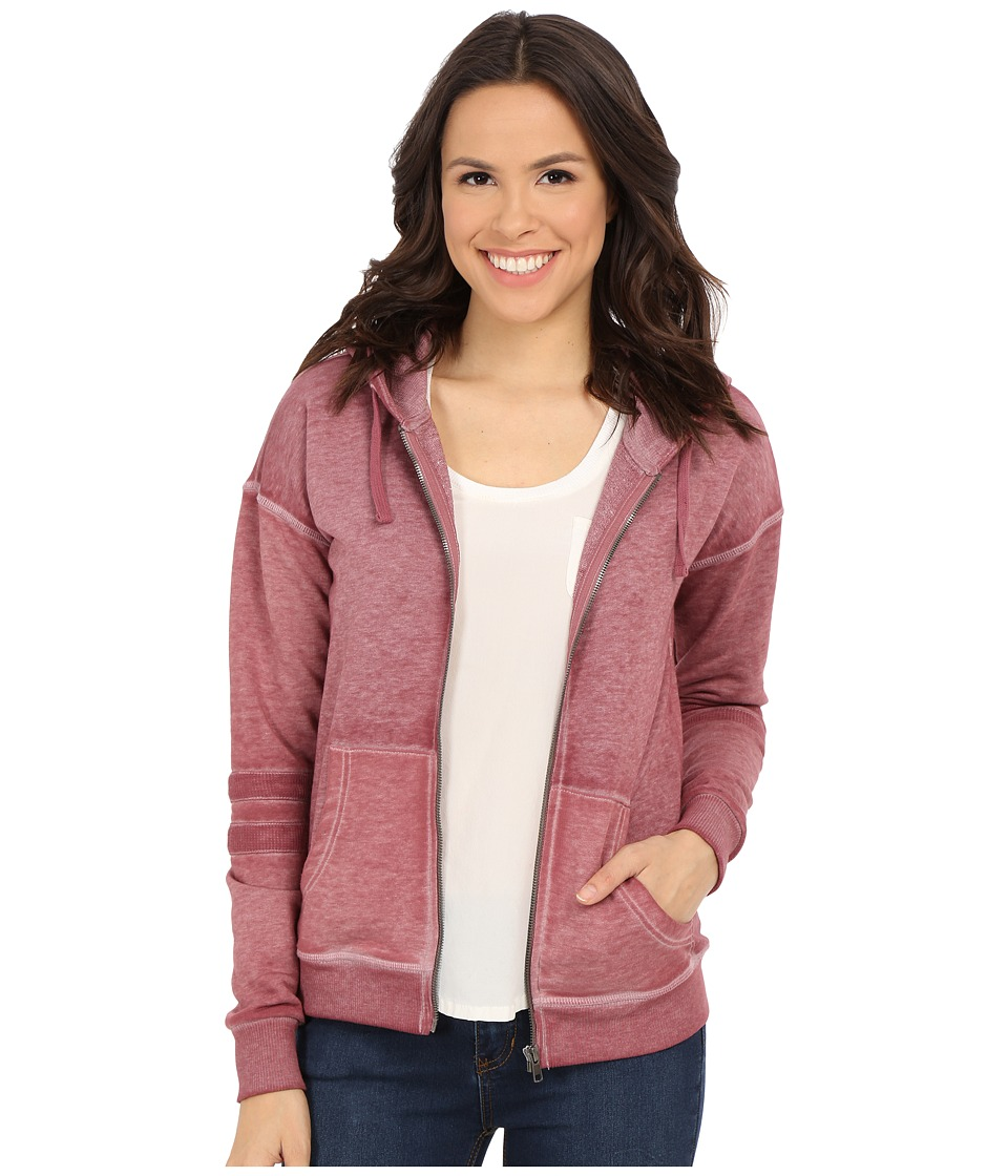 Mavi Jeans - Hoodie with Zipper Front (Crushed Berry) Women's Sweatshirt