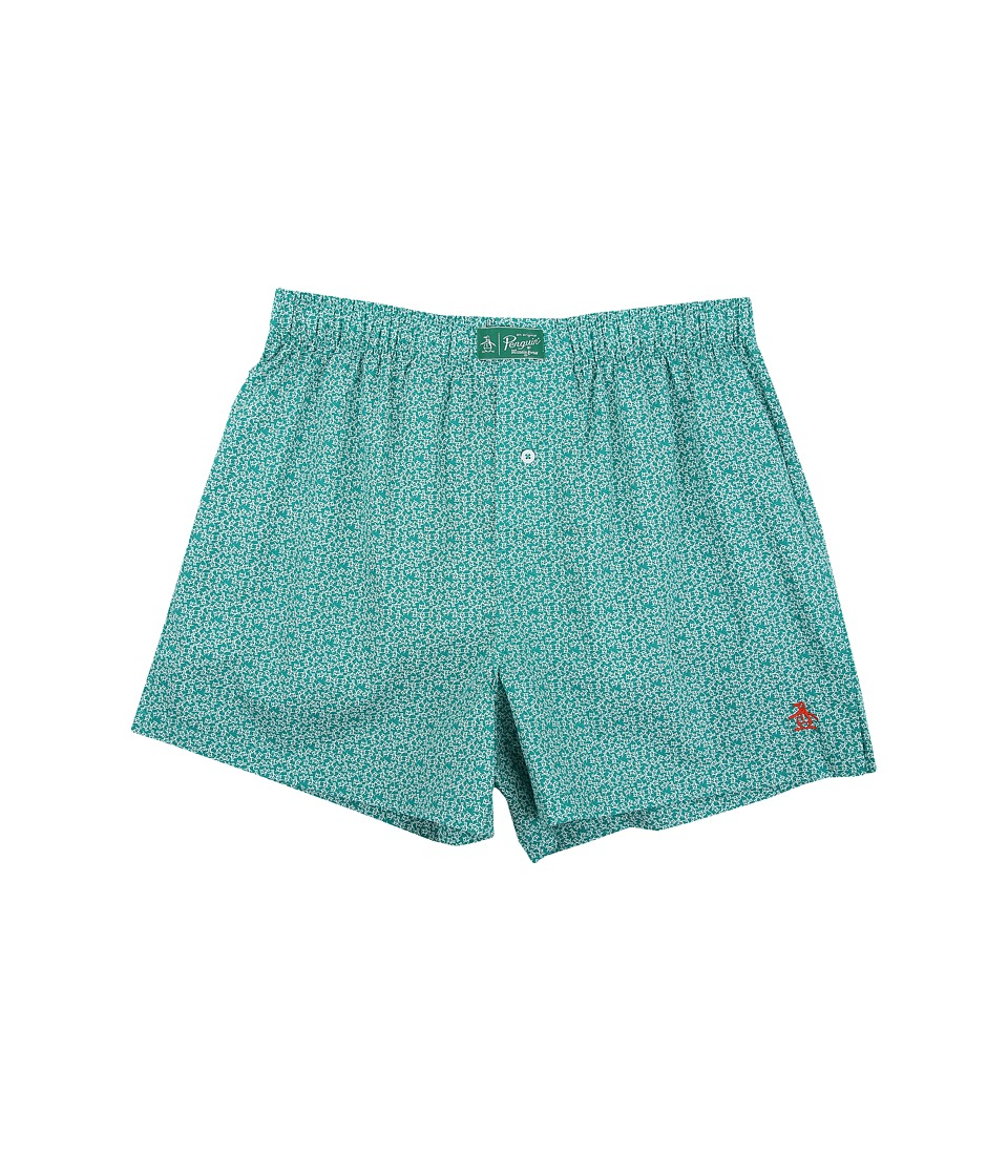 Original Penguin - Woven Boxer (Green Toss) Men's Underwear