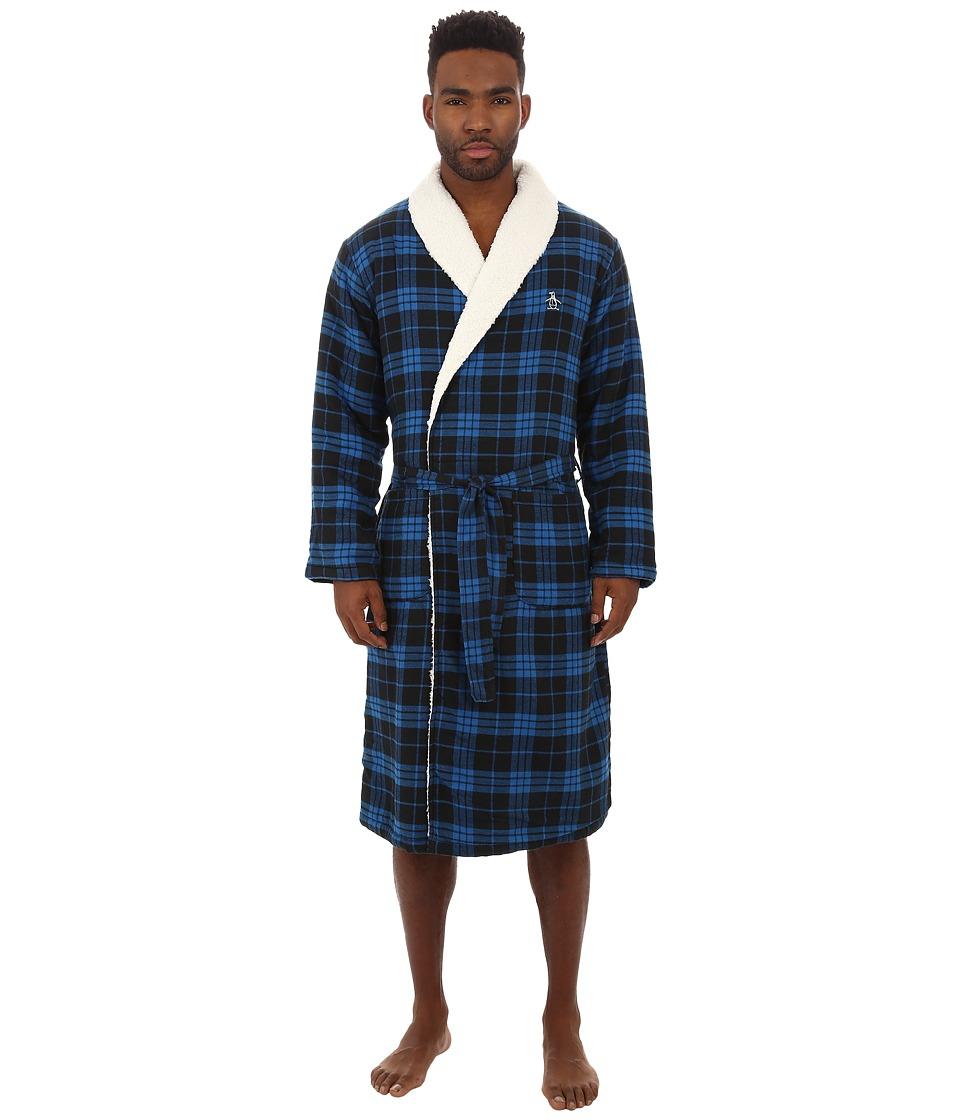 Original Penguin - Robe (Blue Park Plaid) Men's Robe