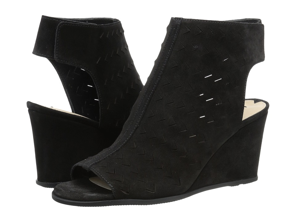 Via Spiga - Leatrice (Black Sport Suede Leather) Women