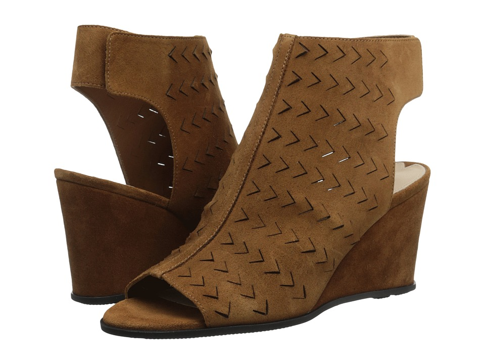 Via Spiga - Leatrice (Luggage Sport Suede Leather) Women's Wedge Shoes