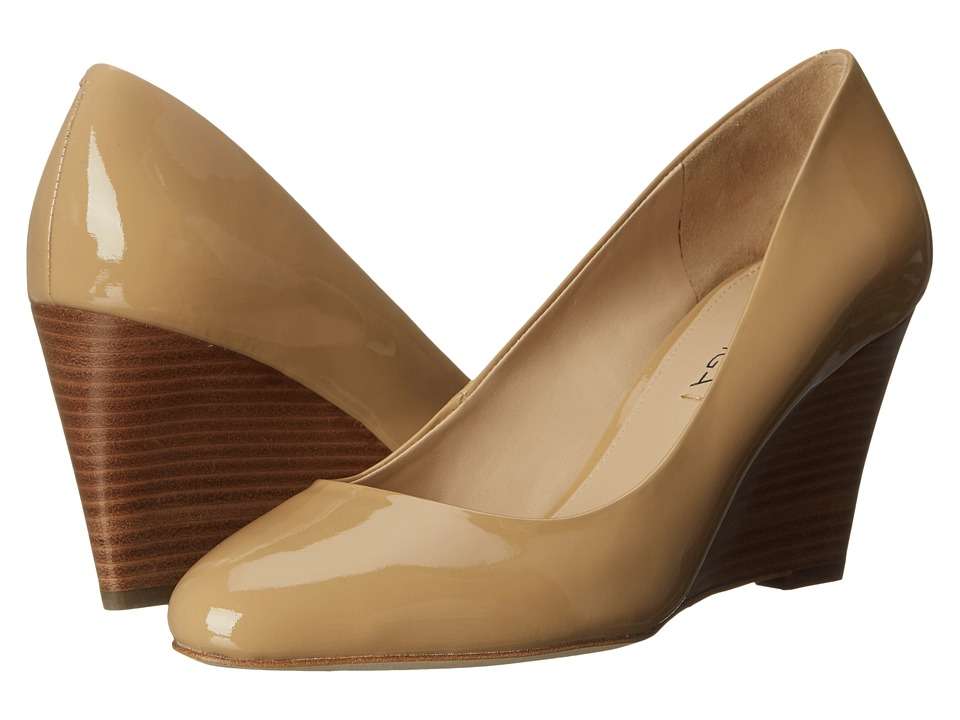Via Spiga - Pamina (Nude Chicago Patent Leather) Women's Wedge Shoes