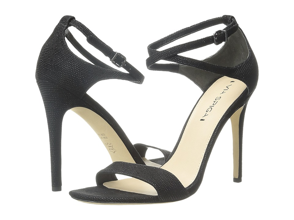 Via Spiga Tiara (Black Dotted Suede Leather) High Heels