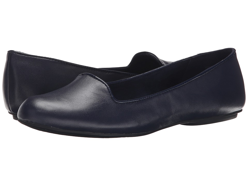 Bandolino - Edisson (Navy/Navy Leather) Women's Toe Open Shoes