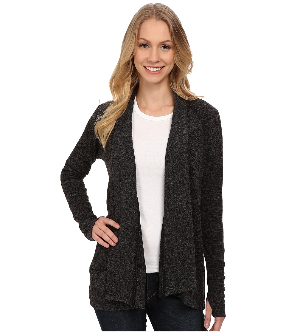 Mod-o-doc - Heather Sweater Shawl Collar Cardigan (Black) Women's Sweater