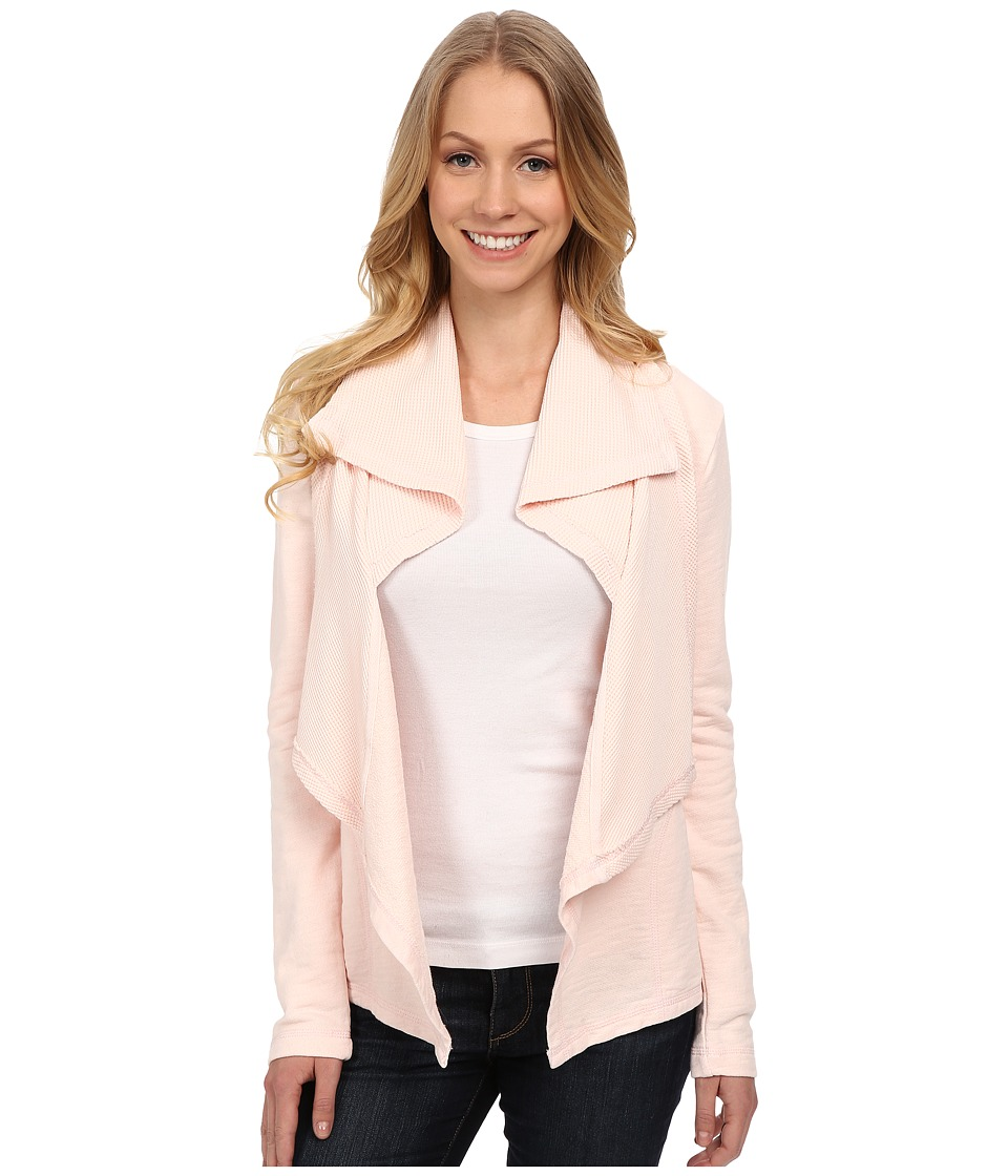 Mod-o-doc - Slub French Terry Double Drape Collar Cardigan (Ballerina) Women's Sweater