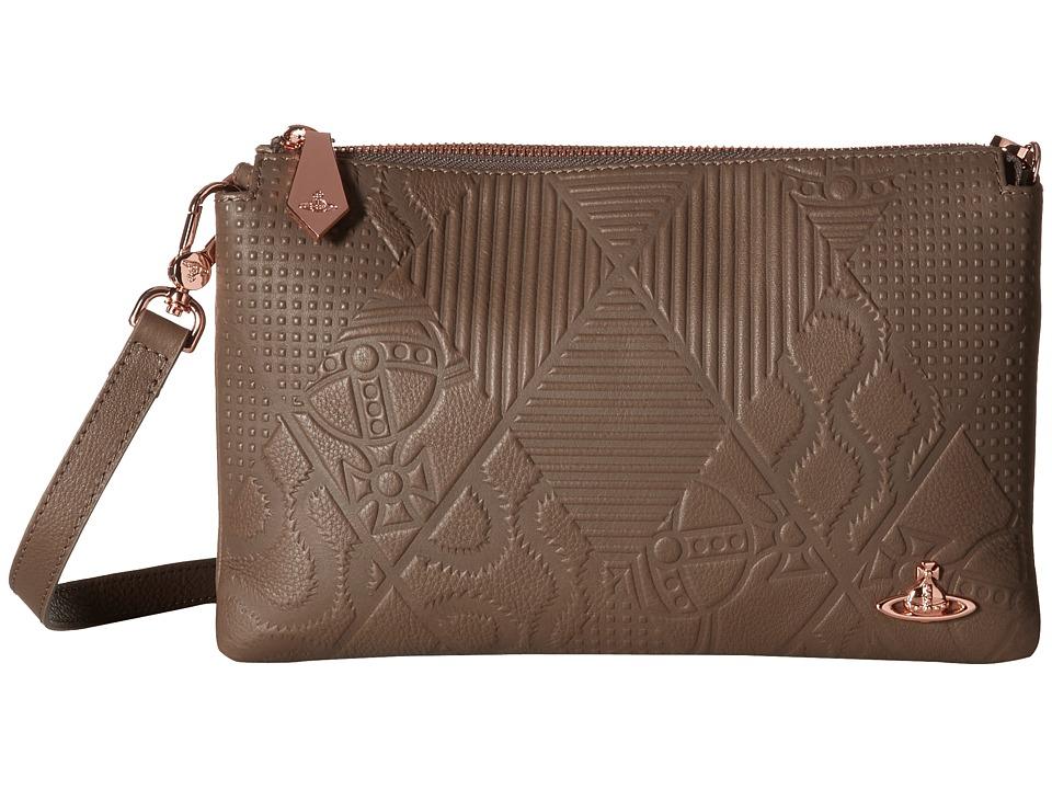 Vivienne Westwood - Hogarth Clutch (Grey) Cross Body Handbags