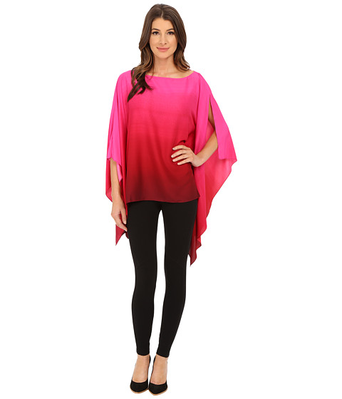 Vince Camuto - Elegant Ombre Poncho (Rich Black) Women's Clothing