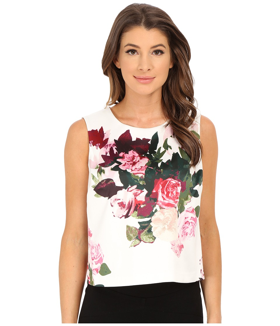 Vince Camuto - Sleeveless Rose Bouquet Shell (Antique White) Women's Sleeveless