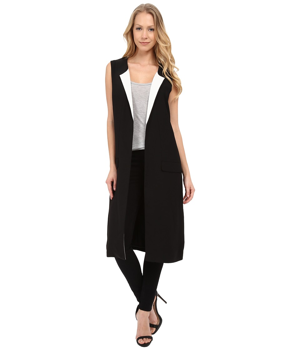 Vince Camuto - Sleeveless Duster (Rich Black) Women's Sleeveless