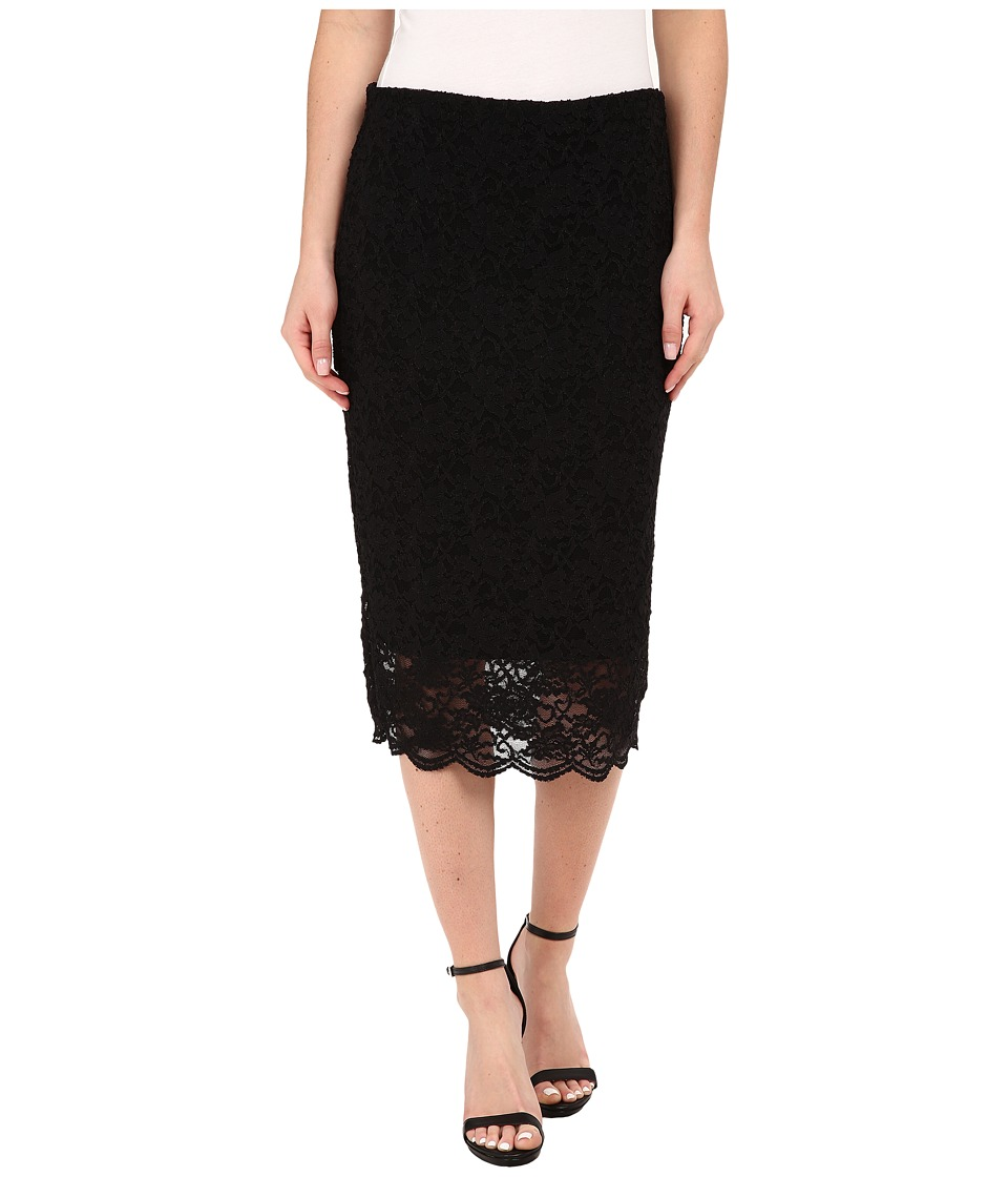 Vince Camuto - Stretch Lace Pencil Skirt (Rich Black) Women