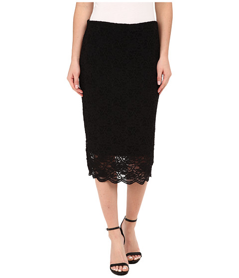 Vince Camuto - Stretch Lace Pencil Skirt (Rich Black) Women's Skirt