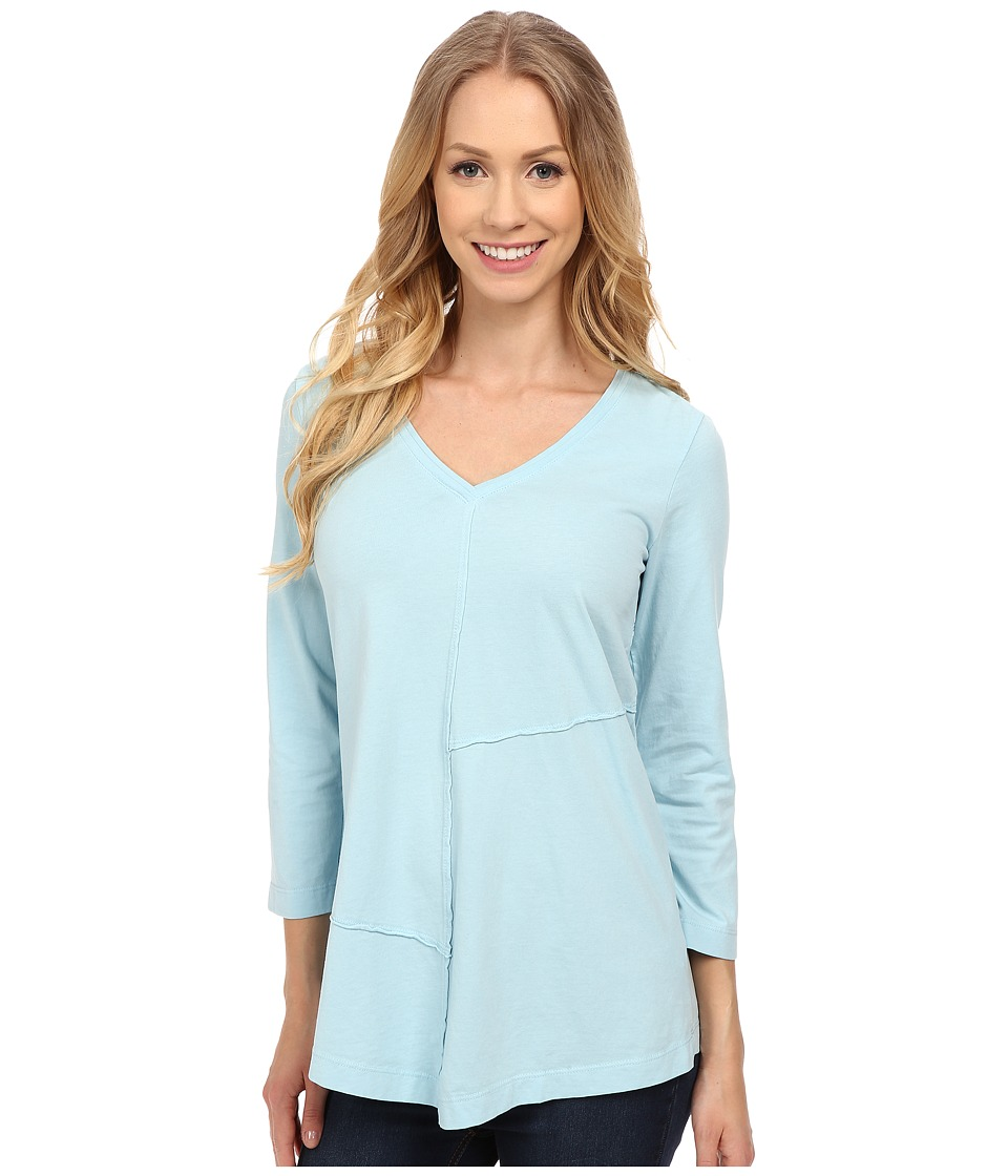 Mod-o-doc - Classic Jersey Seamed V-Neck Pullover (Blue Frost) Women's T Shirt