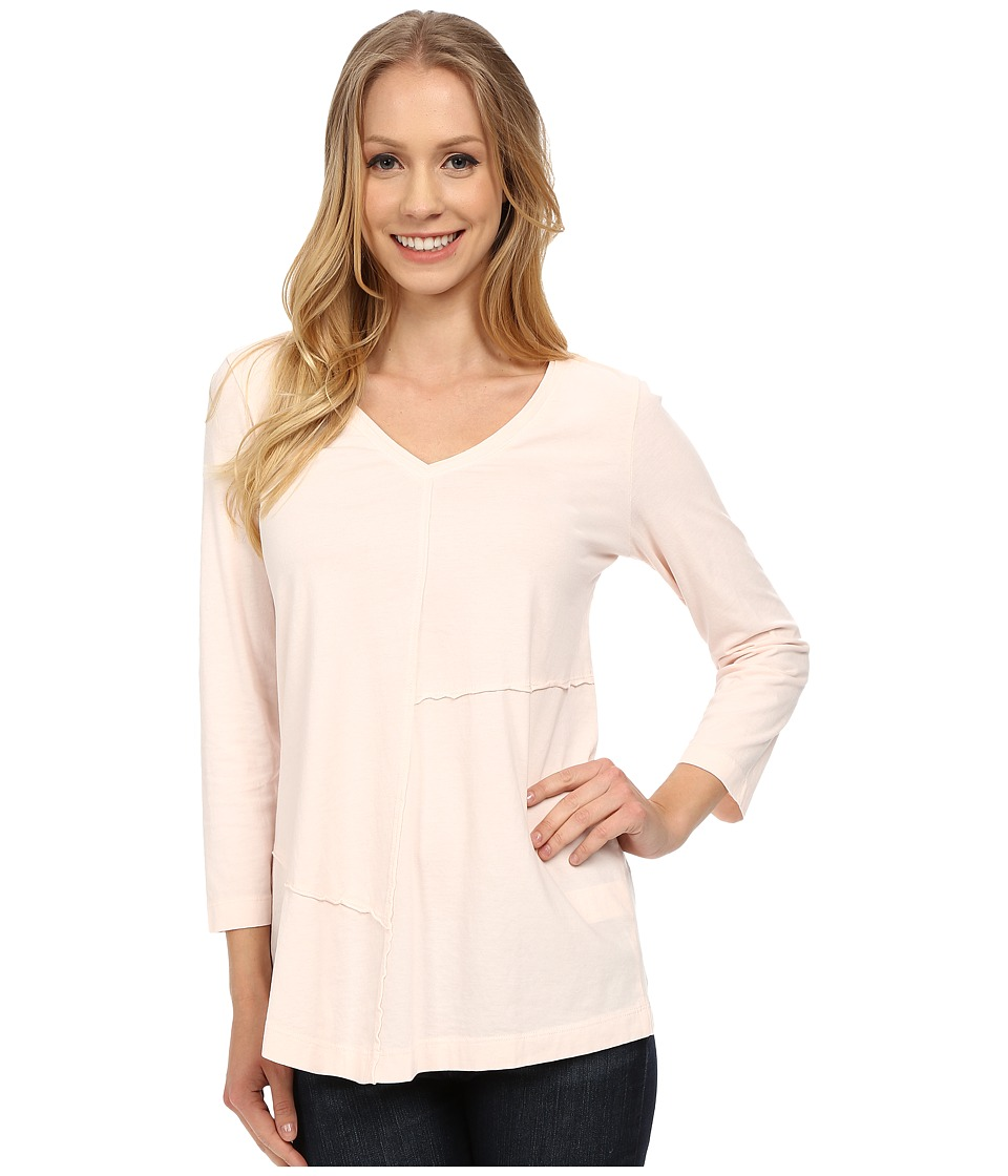Mod-o-doc - Classic Jersey Seamed V-Neck Pullover (Ballerina) Women's T Shirt