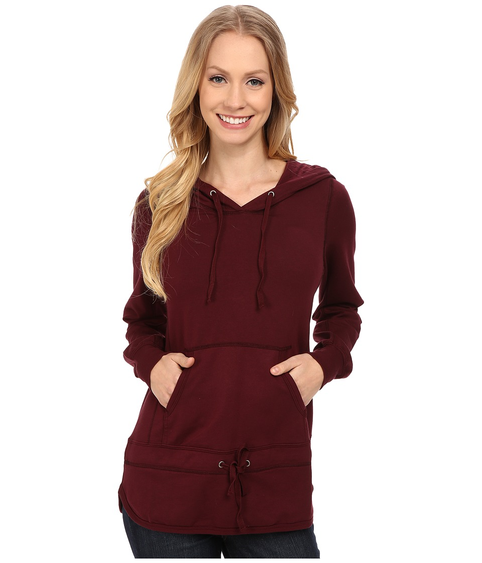 Mod-o-doc Cotton Modal Spandex French Terry Pullover Hoodie (Burgundy Noir) Women