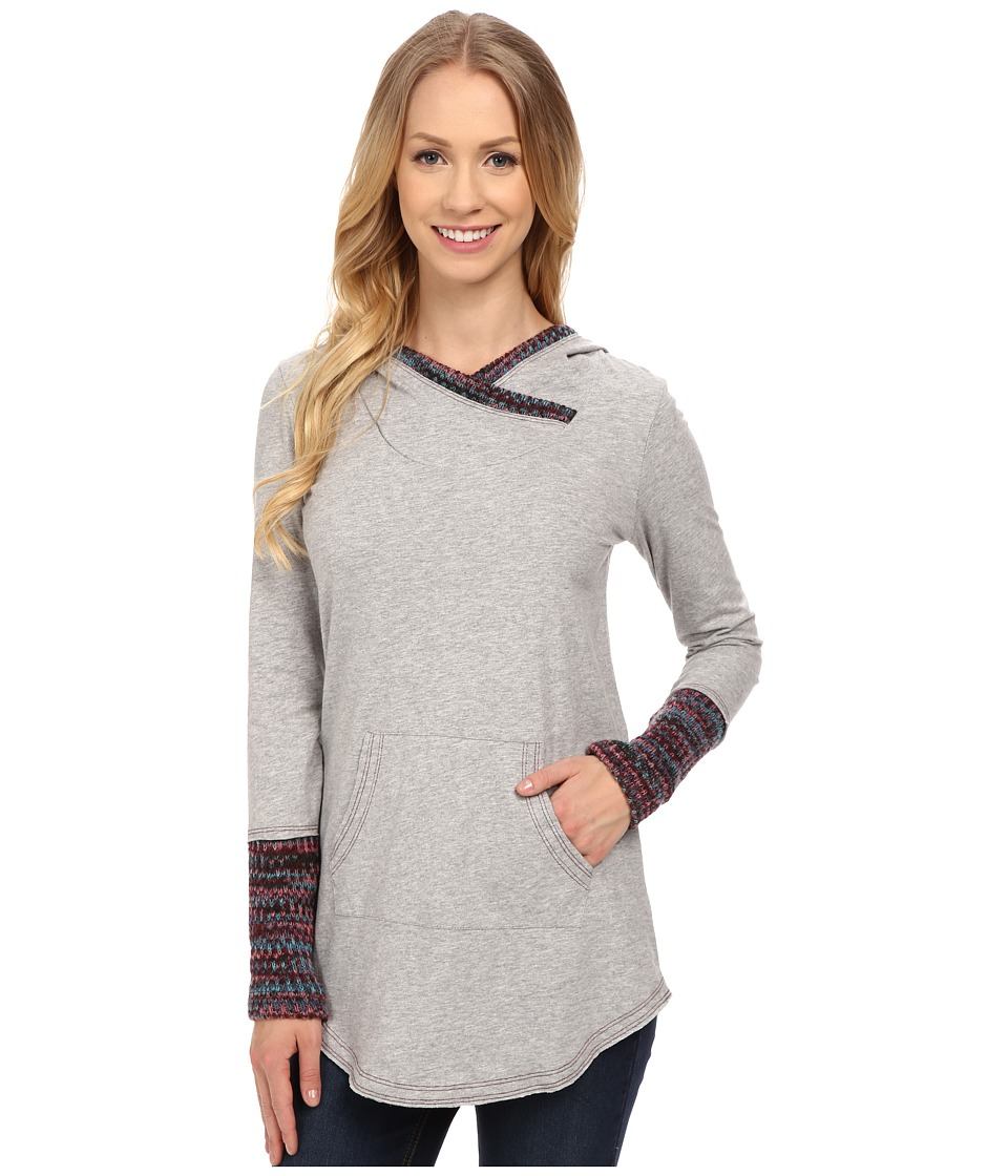 Mod-o-doc - Classic Jersey Pullover Hoodie w/ Contrast Trim (Heather Grey) Women's Sweatshirt