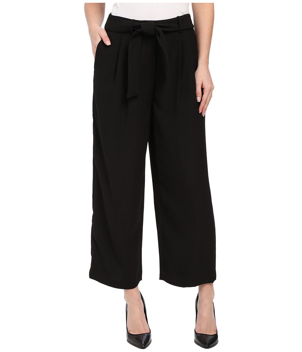Vince Camuto - Soft Belted Pants w/ Front Pleats (Rich Black) Women's Casual Pants