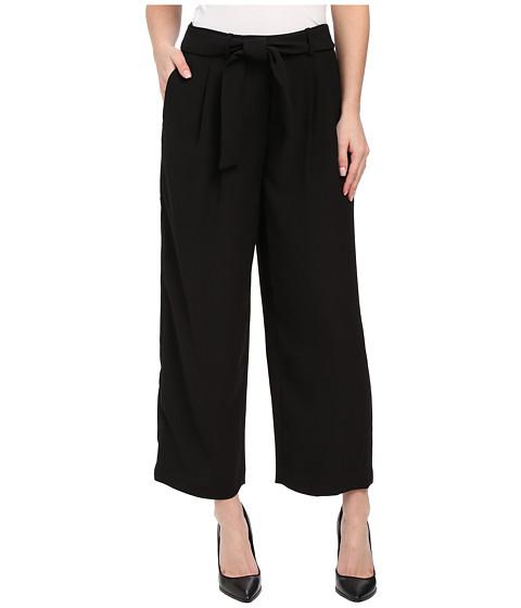 Vince Camuto - Soft Belted Pants w/ Front Pleats (Rich Black) Women's Casual Pants