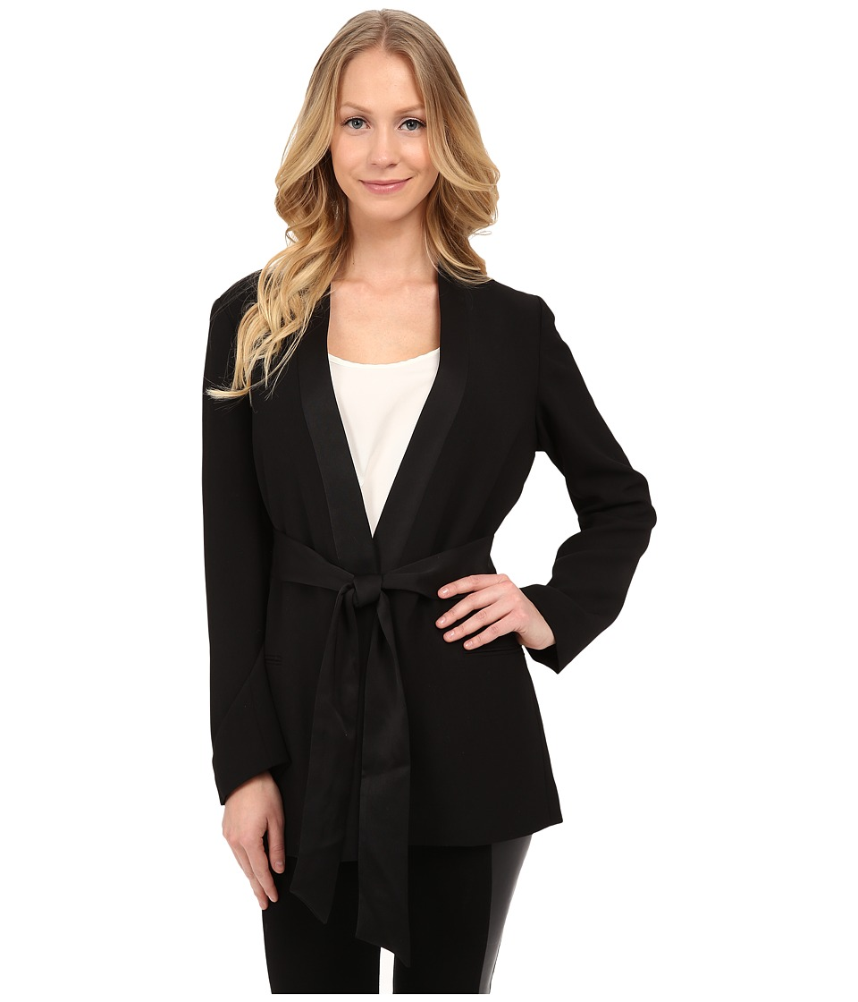 Vince Camuto - Belted Kimono Jacket (Rich Black) Women's Coat