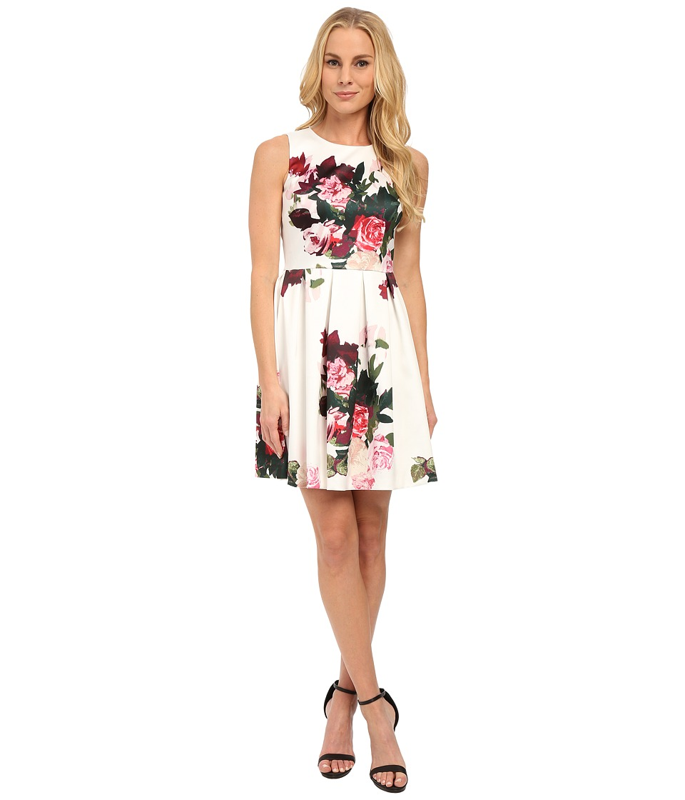 Vince Camuto - Sleeveless Rose Bouquet Dress (Antique White) Women's Dress