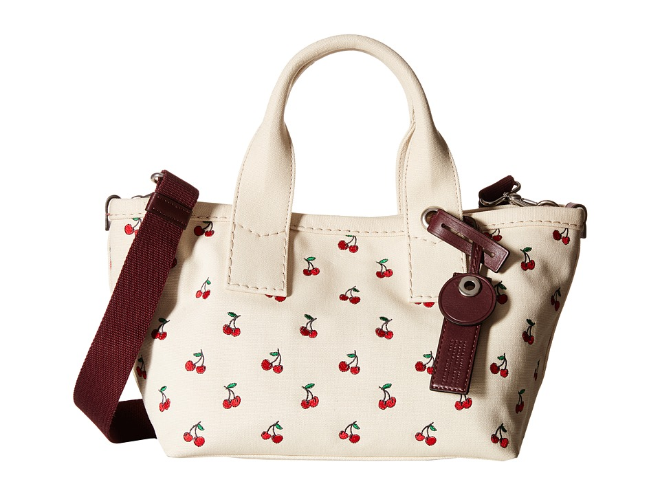 Marc by Marc Jacobs - Embroidered Fruit Canvas Small Tote (Off-White/Cherry Print) Tote Handbags