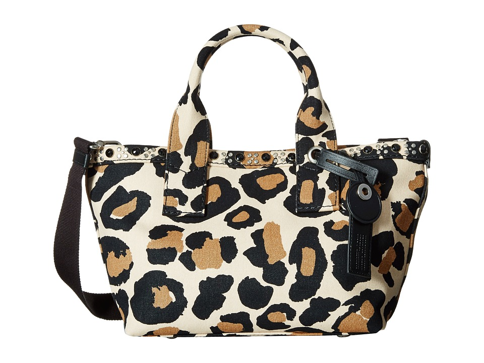 Marc by Marc Jacobs - Leopard Embellished Canvas Small Tote (Sandbox Multi) Tote Handbags