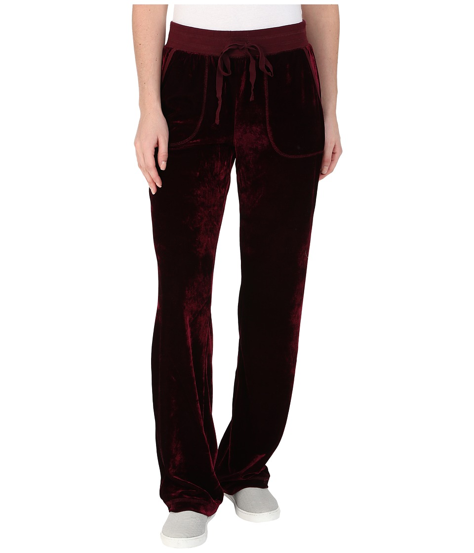 Mod-o-doc - Velvet Lounge Lounge Pants (Burgundy Noir) Women's Casual Pants