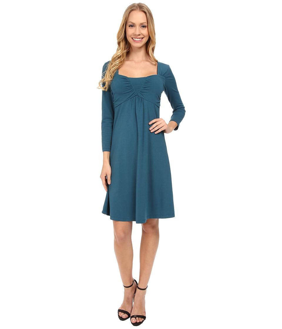 Mod-o-doc Cotton Modal Spandex Jersey Ruched Babydoll Dress (Baltic) Women