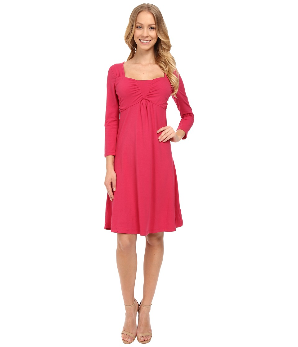Mod-o-doc Cotton Modal Spandex Jersey Ruched Babydoll Dress (Rosily) Women
