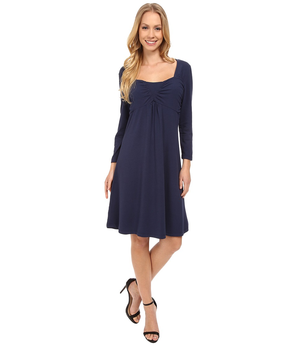Mod-o-doc Cotton Modal Spandex Jersey Ruched Babydoll Dress (New Navy) Women