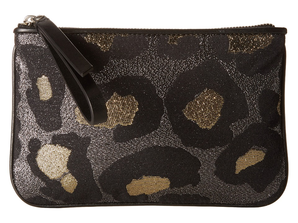 Marc by Marc Jacobs - Divine Leopard Lurex The Roxy 20 (Gold Multi) Clutch Handbags