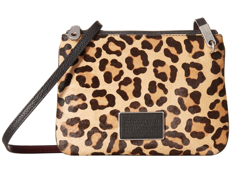 Marc by Marc Jacobs - Ligero Leopard Double Percy (Black Multi) Handbags