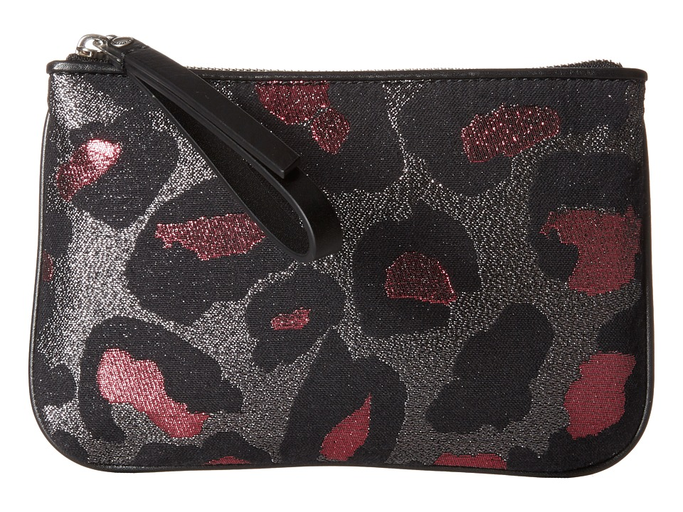 Marc by Marc Jacobs - Divine Leopard Lurex The Roxy 20 (Raspberry Sorbet Multi) Clutch Handbags