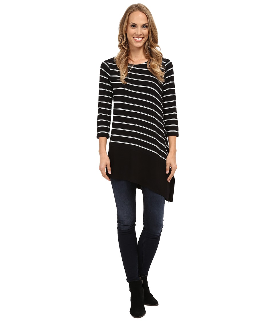 Vince Camuto - 3/4 Sleeve Duet Slim Line Top (Rich Black) Women