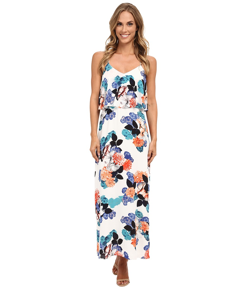 Vince Camuto - Floral Garden Maxi Dress w/ Crop Overlay (New Ivory) Women's Dress