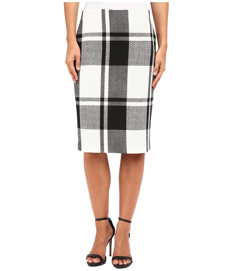 Vince Camuto - Plaid Pencil Skirt (Rich Black) Women's Skirt